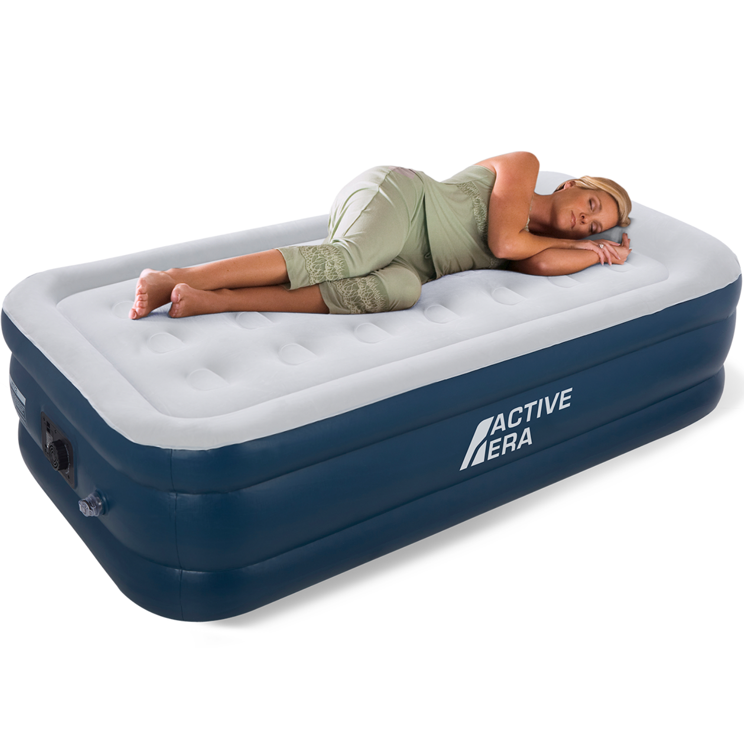 Picture of: Tesco Jl29p381e Raised Single Air Bed With Built In Electric Pump Blue For Sale Ebay