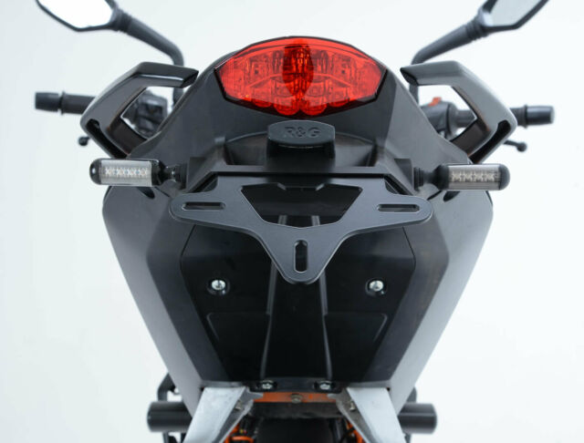 R/&G Tail Tidy Licence Plate Holder for KTM 125//200//390 Duke moulded, with aluminium hanger