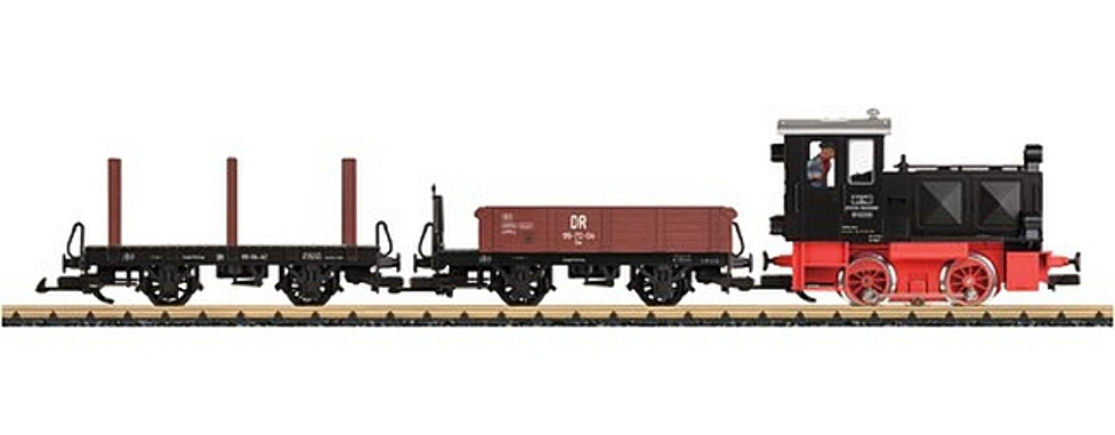 LBB - 70230 –Stkonstter set godstrafik tåg DR G skala