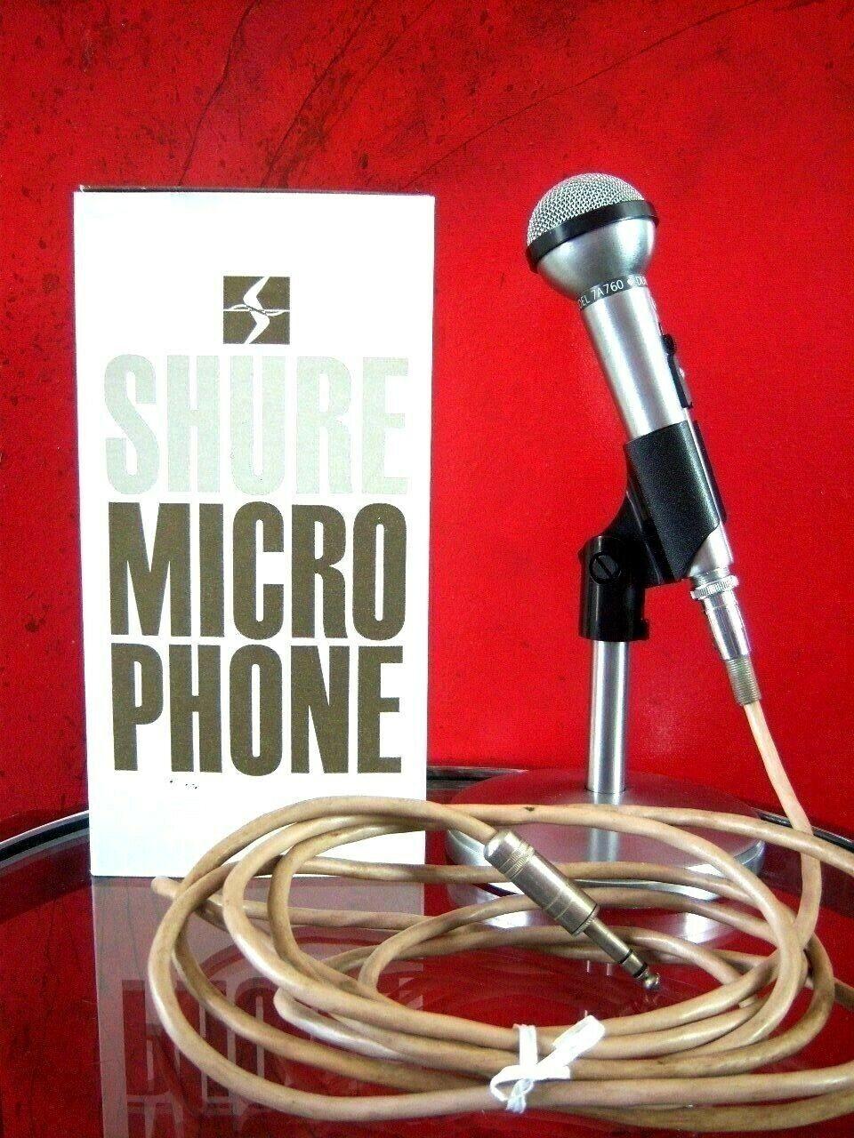 Vintage Raro 597ms Dukane 7A760 Arpa Micrófono Antiguo Usado Mediados de Siglo