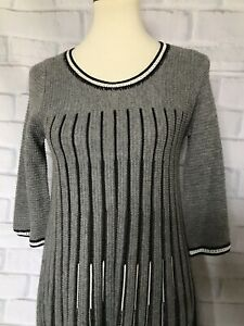 Details about FRENCH CONNECTION Gray Light Weight Sweater Dress Size 6