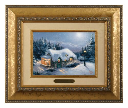Gold Frame Thomas Kinkade Silent Night 5 x 7 Brushwork