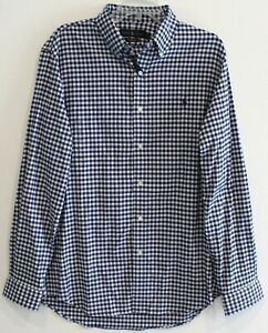 Polo-Ralph-Lauren-Big-Tall-Mens-Blue-Gingham-Check-Button-Front-Shirt-NWT-1XB