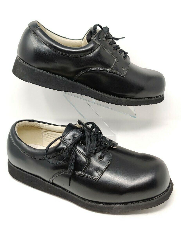 Mt. Emey Orthopedic Shoes Men's 13 6E Black Leather Lightweight Lace Up Dress