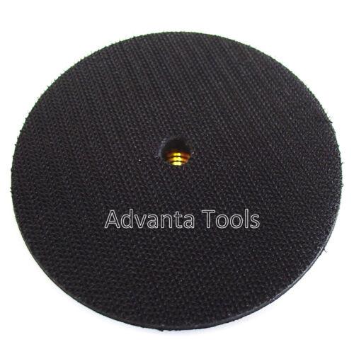 "4"" Rubber Flexible Backer Pad 5//8/""-11 Threads for Diamond Polishing Pad"