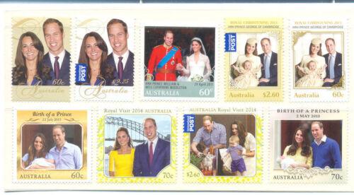 Australia-Duke & Duchess of Cambridge colln complete to date mnh-2009-2015