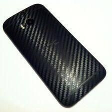 HTC ONE M8 - FULL BODY SKIN - BLACK 3D Textured Carbon Fiber Vinyl Decal Wrap