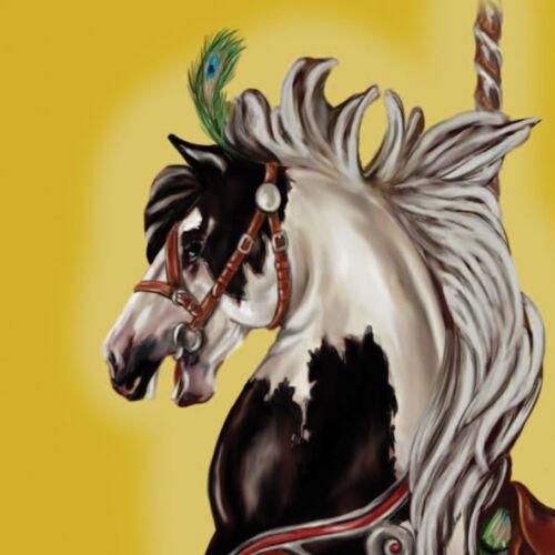 Peacock Lilikoi ~ Gypsy Vanner Carousel Horse 7X10