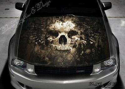 Expendable Skull Full Color Graphics Adhesive Vinyl Sticker Fit any Car Hood#208