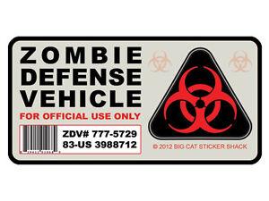 Zombie-Defense-Vehicle-Bumper-Sticker-Decal