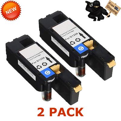 2pk Yellow Toner Cartridge for Dell 1250 1250c 1350cnw 1355cn 1355cnw