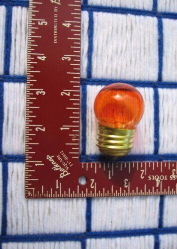 NEW AMBER transparent ORANGE S11 sign LIGHT BULB 7 /&1//2 WATT 7.5S11 regular 130v