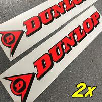 Dunlop Neon Red 13in 33cm Decals Stickers Moto Gp Racing Sponsor Gsxr Set R 1 6