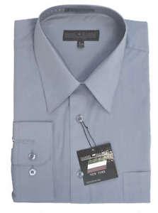 New Daniel Ellissa Men/'s Fashion Dress Shirt Navy Blue DS3001