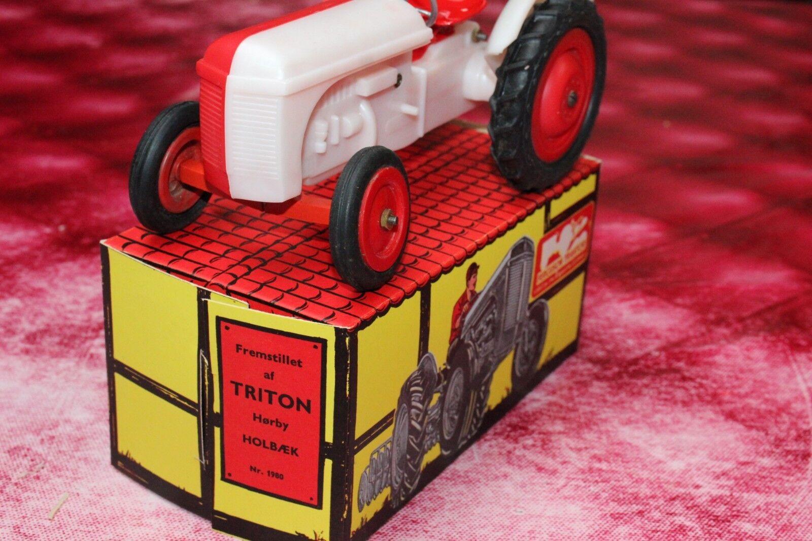 Very rare LEGO   Triton Ferguson tractor Mursten , rojo   Milky blancoo