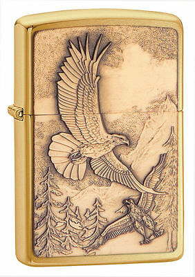 Zippo Windproof Bald Eagle Lighter, Where Eagles Dare, 20854, New In Box