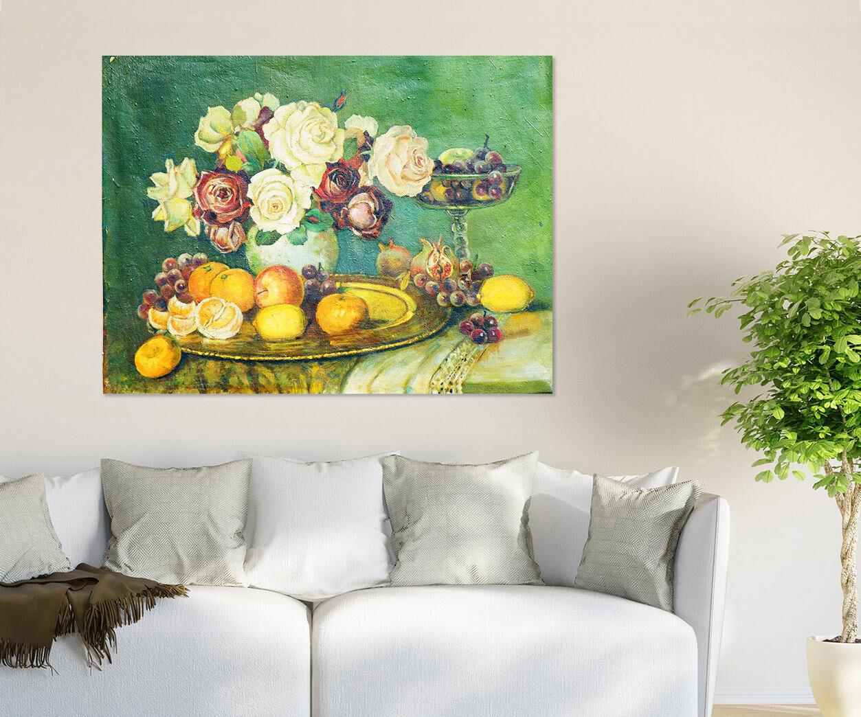 3D Obst Esstisch Blaumen Tasse 9 Fototapeten Wandbild BildTapete AJSTORE DE Lemon