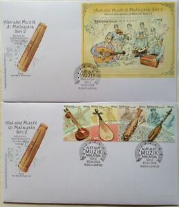 Malaysia FDC with Stamps & Miniature (10.04.2018) - Musical Instruments Series 2