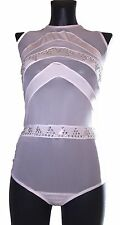 Rhinestone Studded Sheer Lingerie Romper Exotic Dancewear Teddy M/L NALI127S