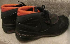 best loved 2a39a 0b13c Image is loading Nike-Air-Max-Force-STAT-Black-Basketball-Shoes-