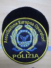 PATCH TOPPA POLIZIA - ASSOCIAZIONE EUROPEA OPERATORI - DIAMETRO 10cm con VELCRO