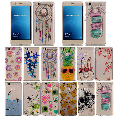 Fashion Rubber Soft TPU Back Case thin Silicone Cover Skin For Huawei P8 P9 Lite