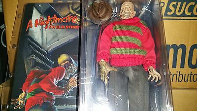 "Neca Nightmare on Elm Street retro clothed 8/"" Freddy Krueger Action Figure Doll"