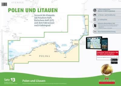 Briefmarken Sportbootkarten Satz 13 Polen Und Litauen Seekarten Ostsee Szczecin Kleipeda Dk Diversifizierte Neueste Designs Zubehör