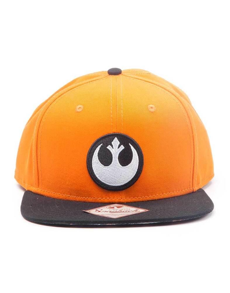 100% Vrai Star Wars La Résistance Symbole Orange Casquette Réglable Avec Imprimé Visière (nouveau) Moins Cher