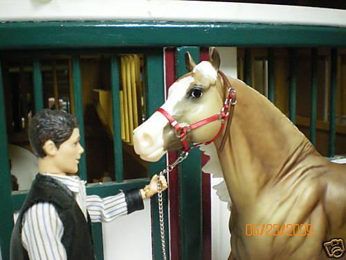 Jaapi RED halter w//leather crown fit Breyer trad/'l