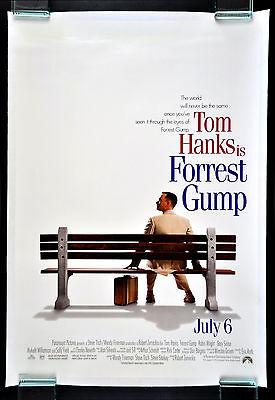 FORREST GUMP * CineMasterpieces 1SH ORIGINAL MOVIE POSTER NM-M 1994 LINEN BACKED