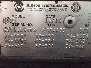 Allison 2000 TRANSMISSION - 2005 FREIGHTLINER FS65 | eBay on