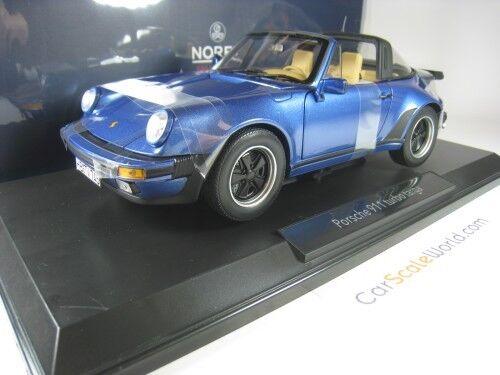 PORSCHE 911 TURBO TARGA 3.3 1987 1 18 NOREV (bleu)