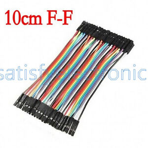 40PCS-Dupont-Wire-Jumper-Cables-10cm-Female-To-Female-1P-1P-For-Arduino