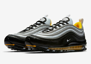 timeless design 0b47b 174c0 Details about AUTHENTIC NIKE AIR MAX 97 Black Grey Yellow 921826 008 men  size