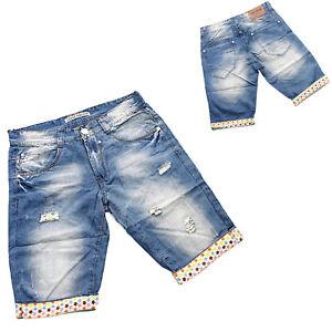 c3f337532ef9db Caricamento dell'immagine in corso Pinocchietto-uomo-jeans -Pantaloncino-bermuda-pantalone-blu-ble44-