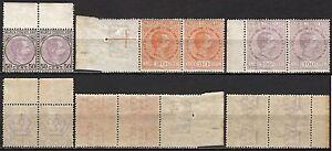1826-Regno-Marche-da-bollo-consolari-in-coppia-1895-Nuovi-MNH