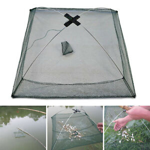 60cm-Folded-Fishing-Net-Small-Fish-Shrimp-Minnow-Crab-Baits-Cast-Mesh-Cage-Trap