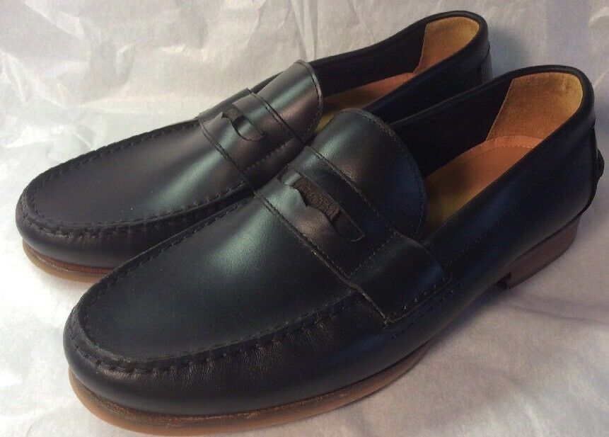 New SEBAGO Hand CRAFTED Blk LEATHER Womans PENNY LOAFERS 9m