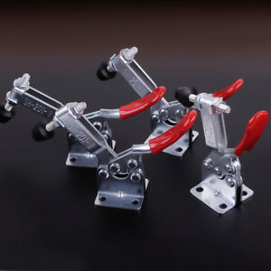 4 Pcs Toggle Clamp GH-201A Red Horizontal Quick Release Clip Hand Tool Tackle