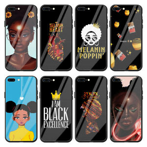 Afro Black Girl Tempered Glass Case For Apple Iphone Xr X Xs Max 8 7 6 6s Plus Ebay