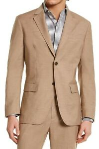 Tasso Elba Mens Sport Coat Beige Size XL Topweight Two-Button Notched $119 #234