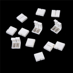 10Pcs-4-PIN-RGB-Connector-Adapter-For-5050-RGB-LED-Strip-Solderless-10mm-KTP
