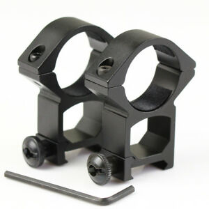 2-New-High-Profile-See-Through-30mm-Scope-Rings-21mm-Picatinny-Weaver-Rail-Mount
