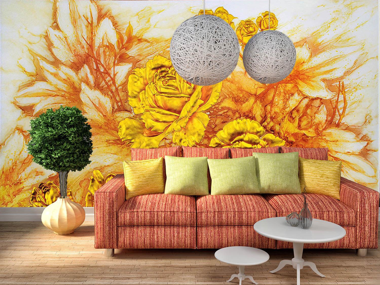3D Luxus Pfingstrose 743 Tapete Wandgemälde Tapete Tapeten Bild Familie DE Lemon