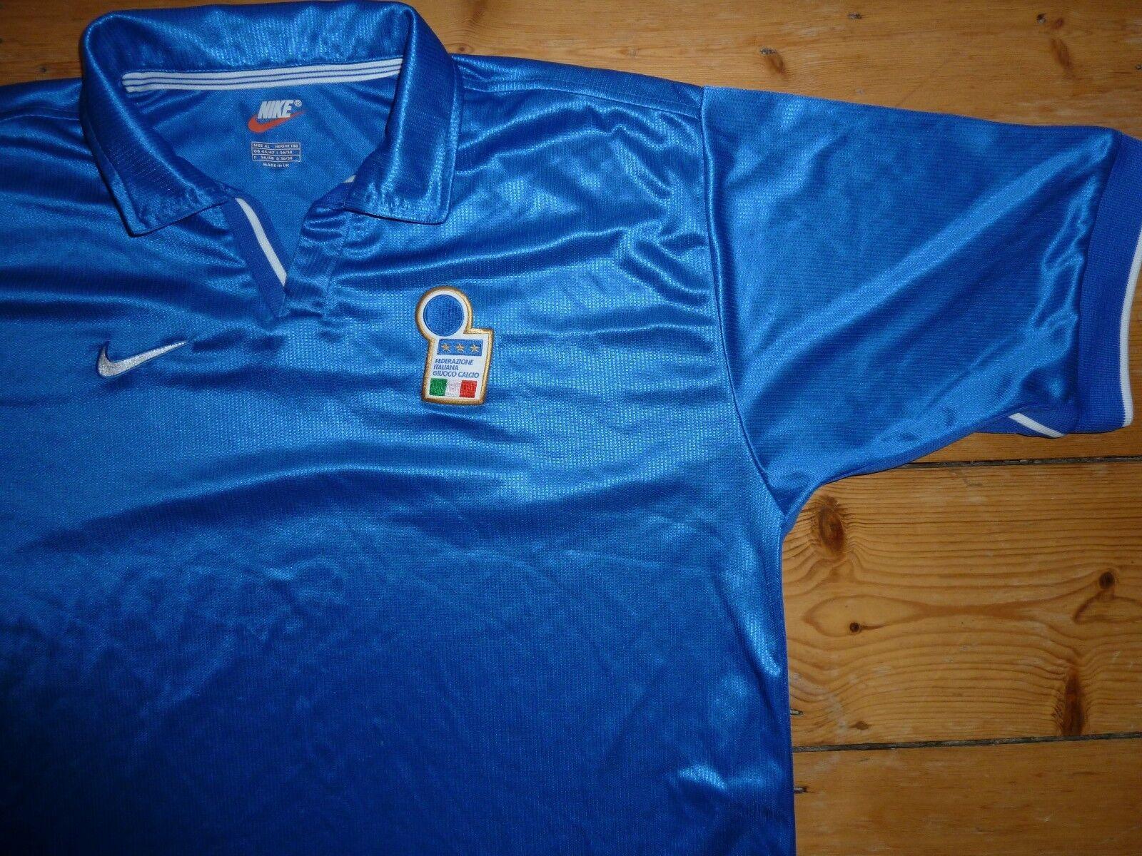 Italia T-Shirt Calcio Calcio Calcio BIADESIVO XL 1994 Maglia da Camiseta Maglla Trikot 7b6e33