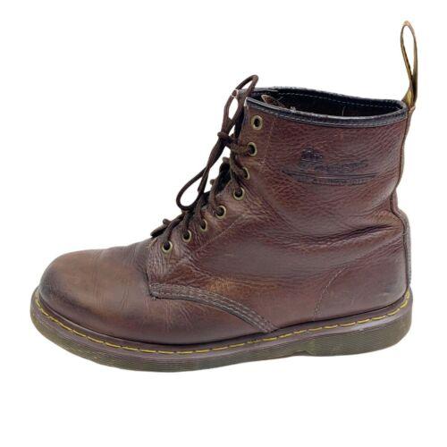 Dr Martens Sz 12 Men's 8-Eye Pebbled Brown Leather