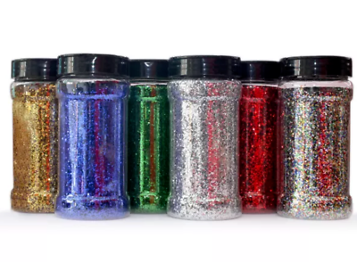Glitterexpress Schools Craft Glitter Pack 6 x 250gram Shakers