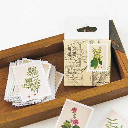 45pcs various vintage plants stamps stickers for crafts cardmaking scrapbooking