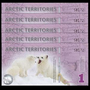 Arctic Territories  9 Dollars Polymer UNC 2012